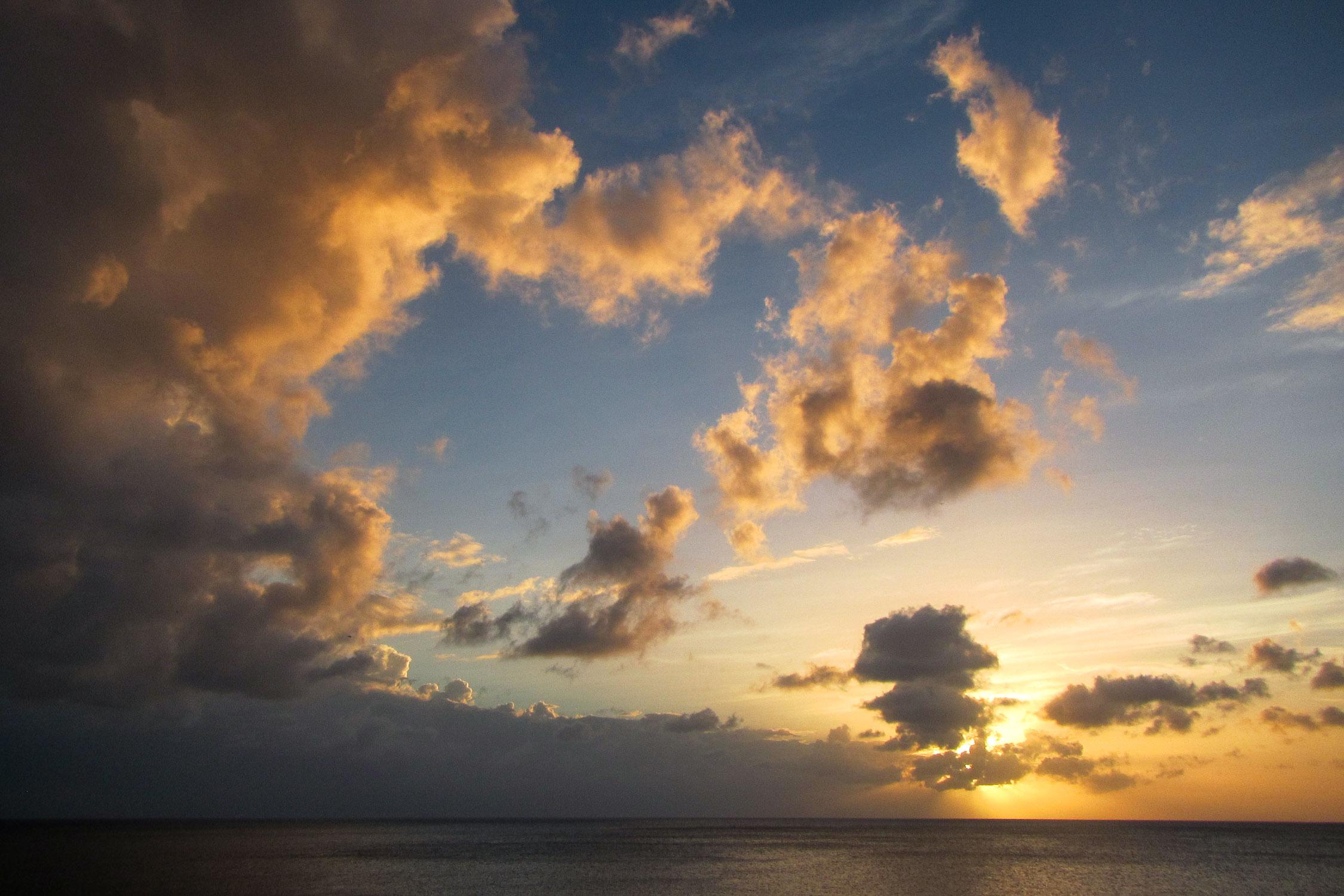 Curacao Meer Sonnenuntergang Sun