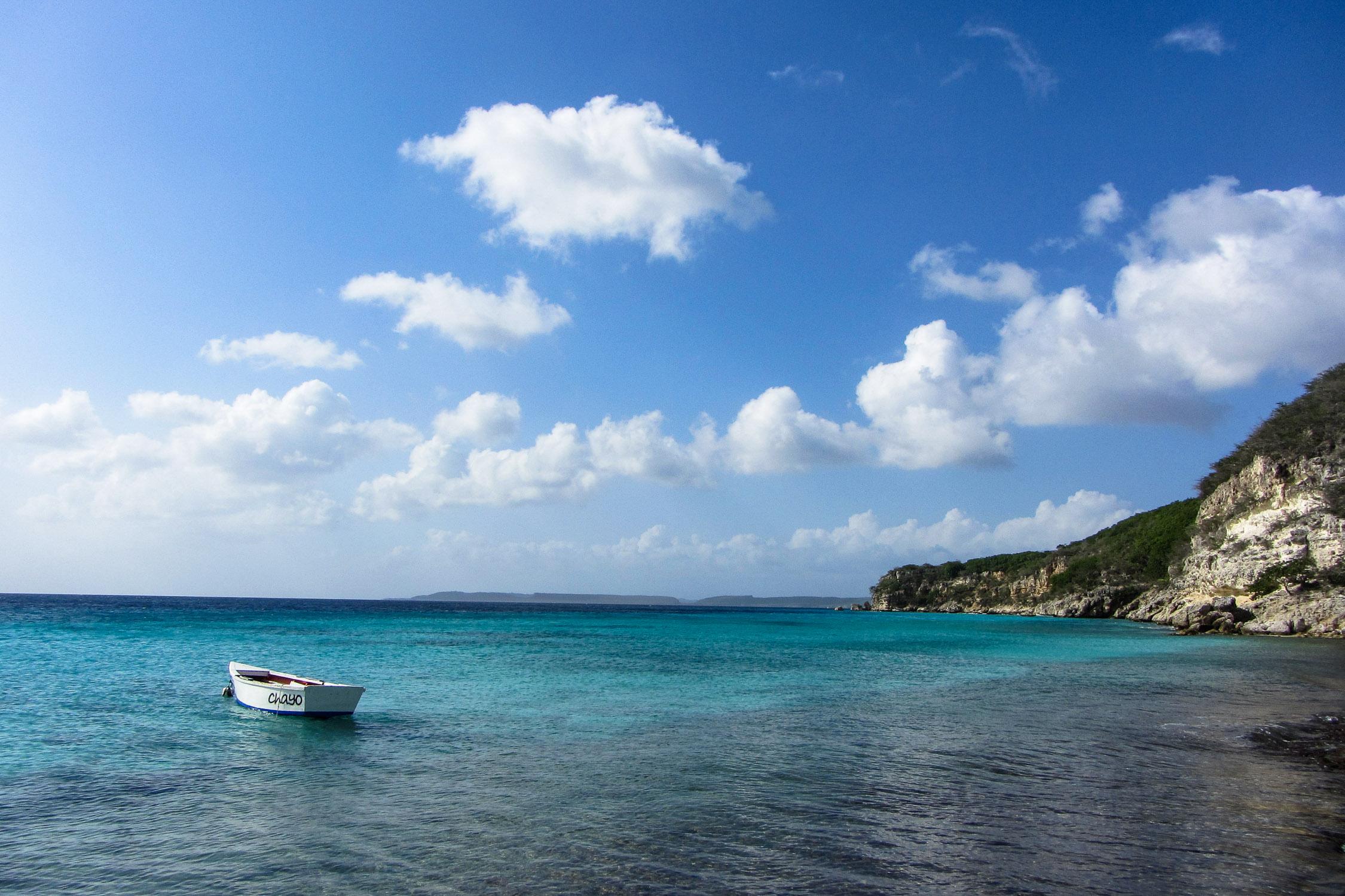 Curacao Strand Boot Blau