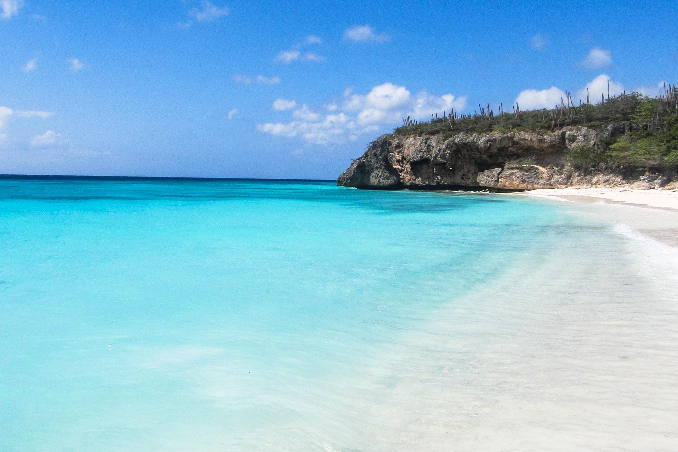 Curacao Cas Abou Sand Meer Blau
