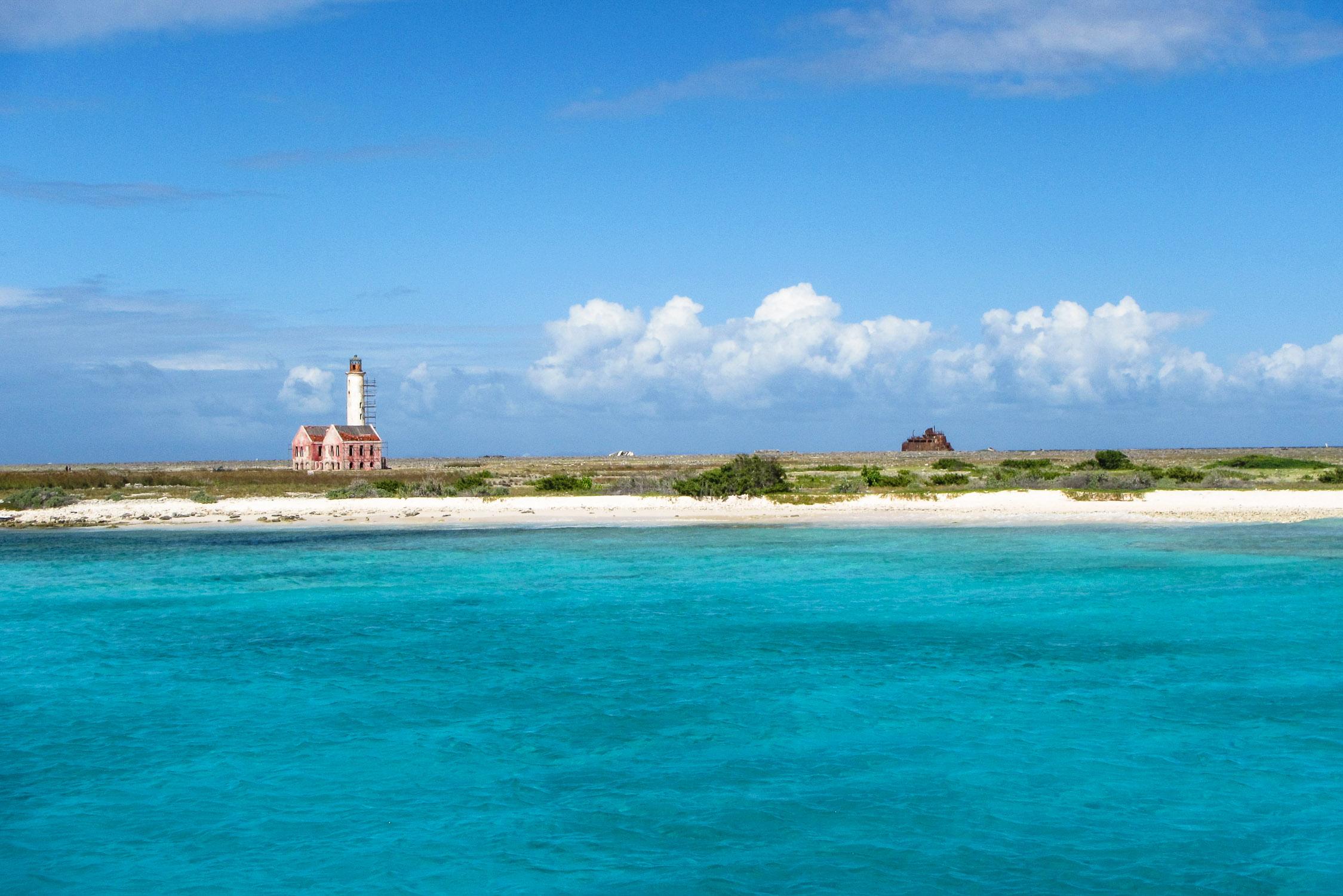 Klein Curacao Strand Leuchtturm