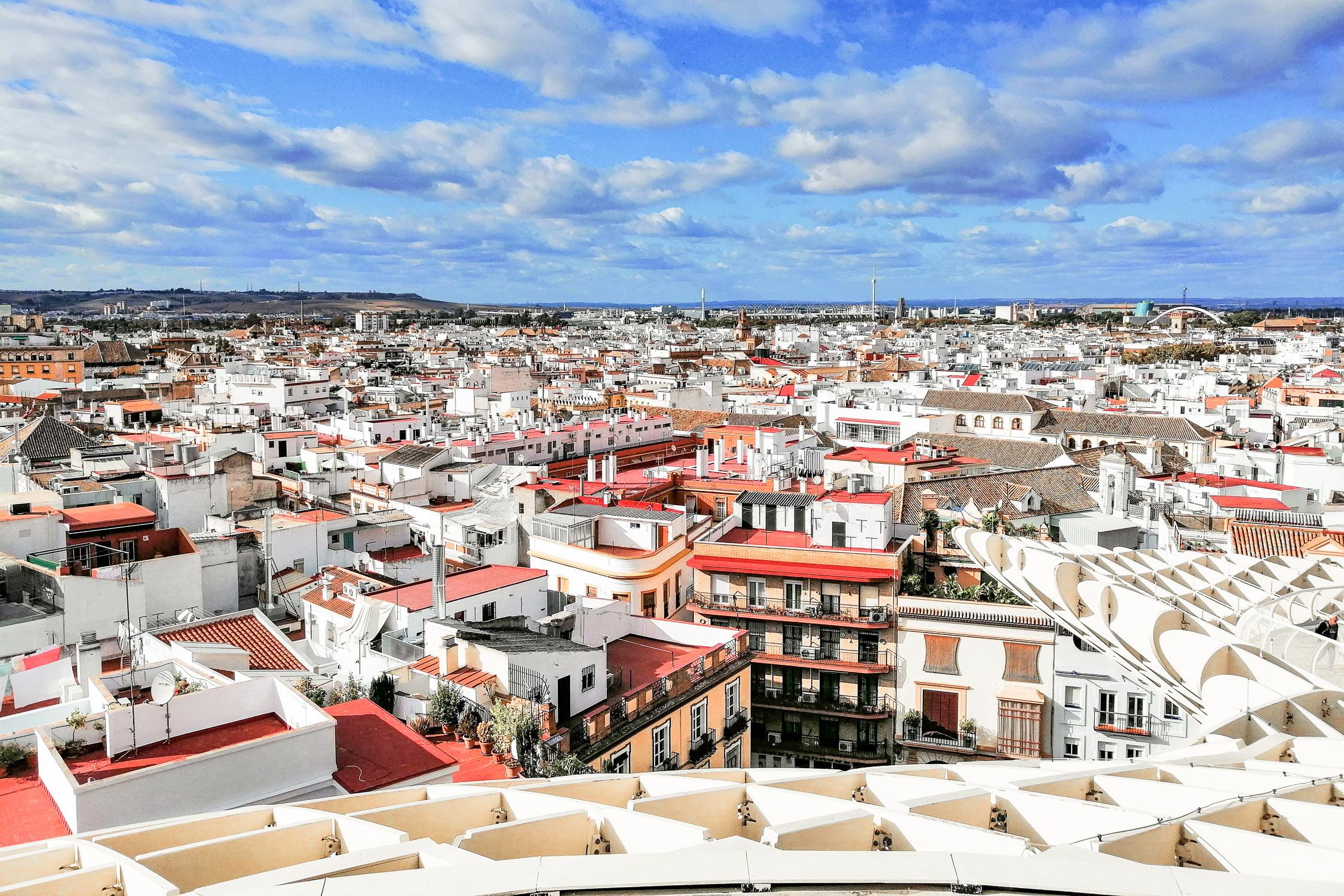 Sevilla Metropol Parasol Aussicht Ausblick