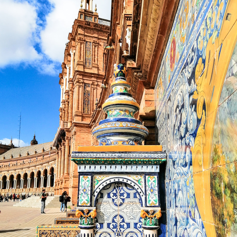 Sevilla Plaza Espana Kacheln