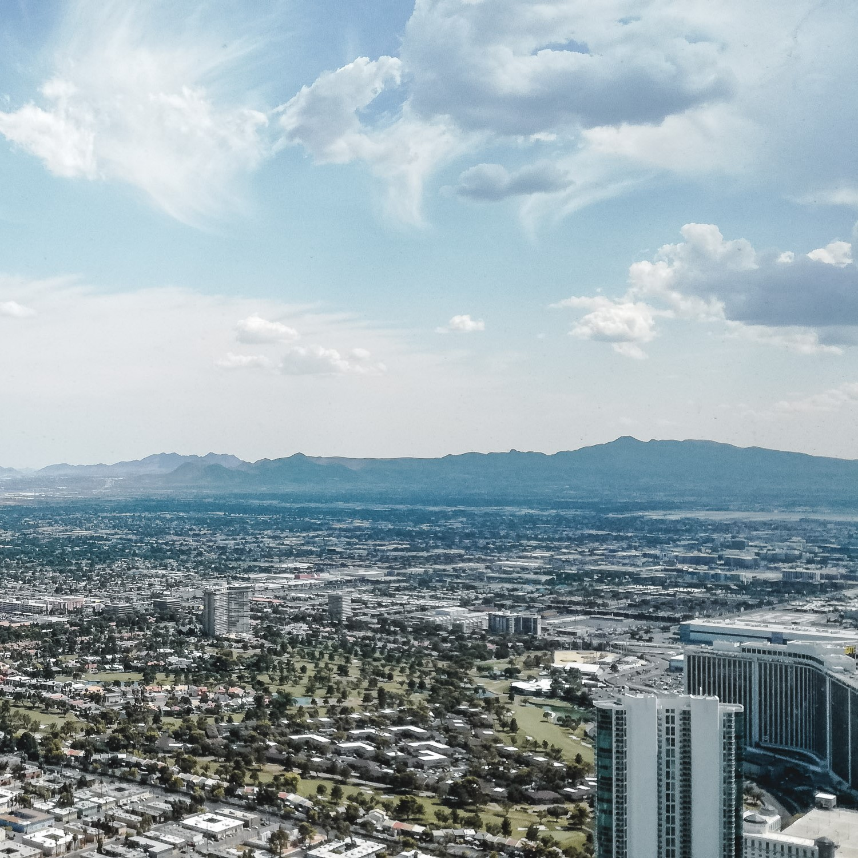 Aussicht auf Las Vegas bei Tag