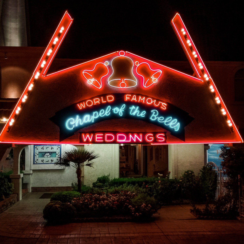 Chapel of the Bells in Las Vegas bei Nacht