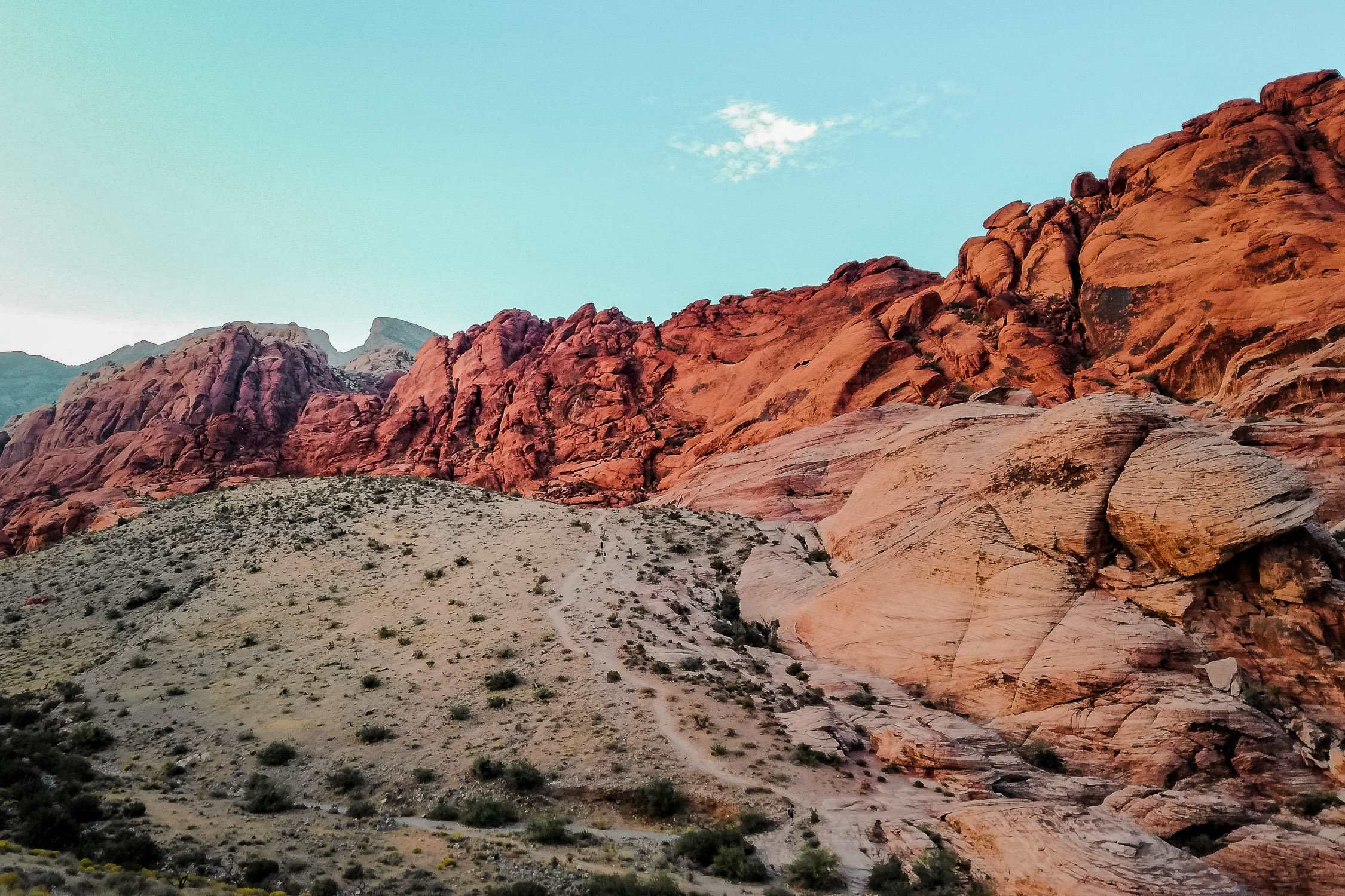 Red Rock Canyon Las Vegas mit roten Felsen