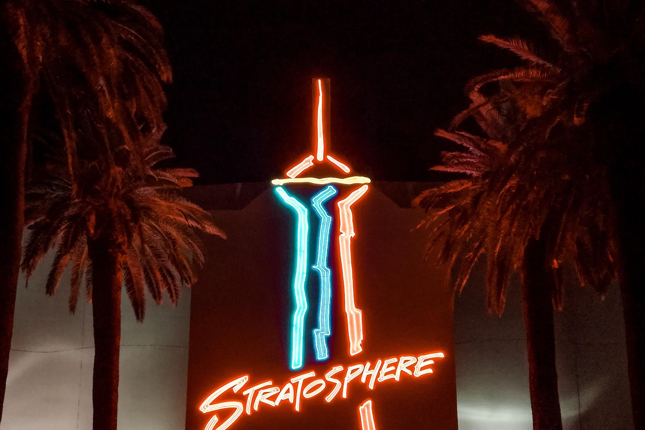 Schild vom Stratosphere Tower in Las Vegas