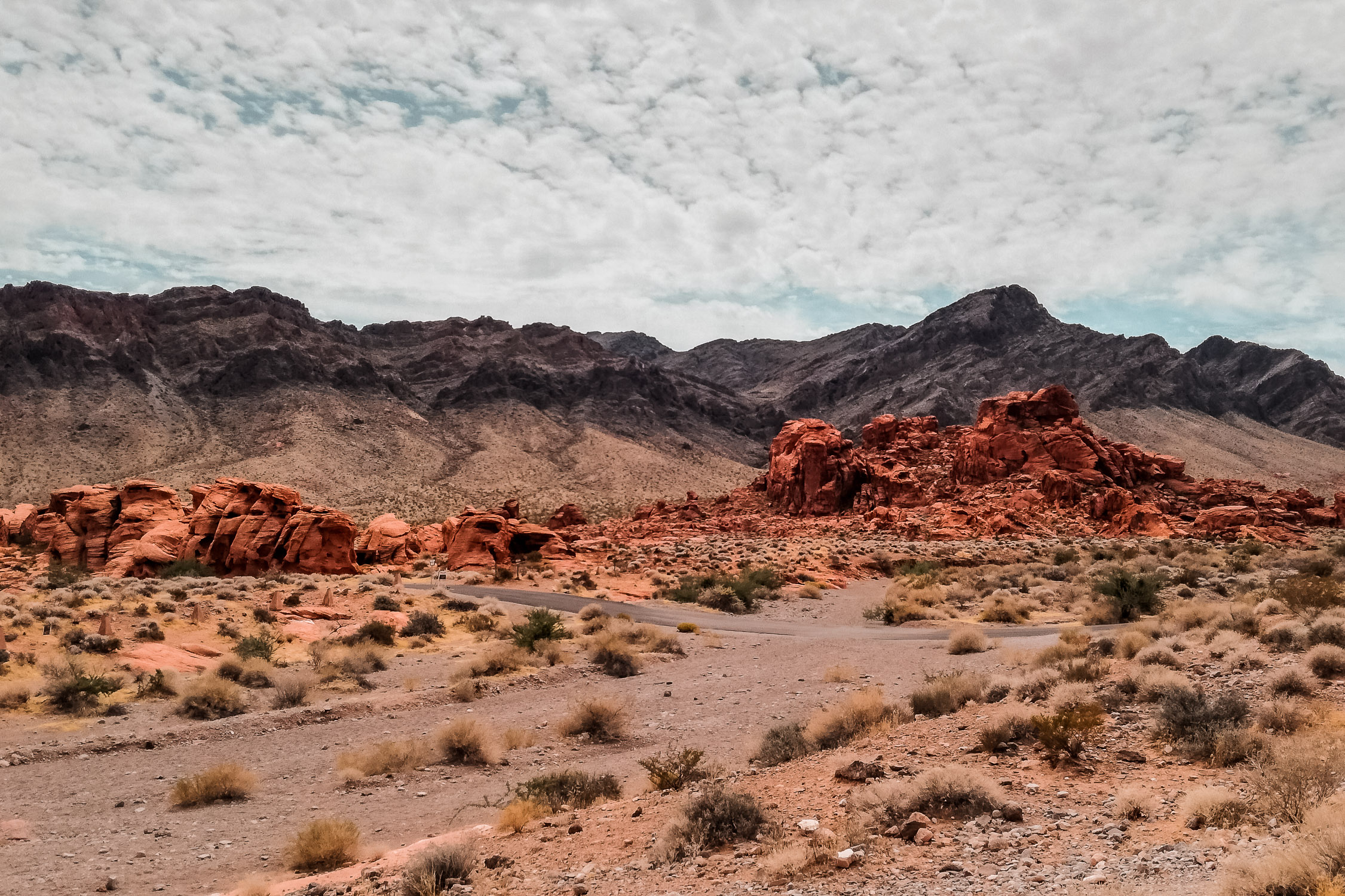Rote Berge im Valley of Fire