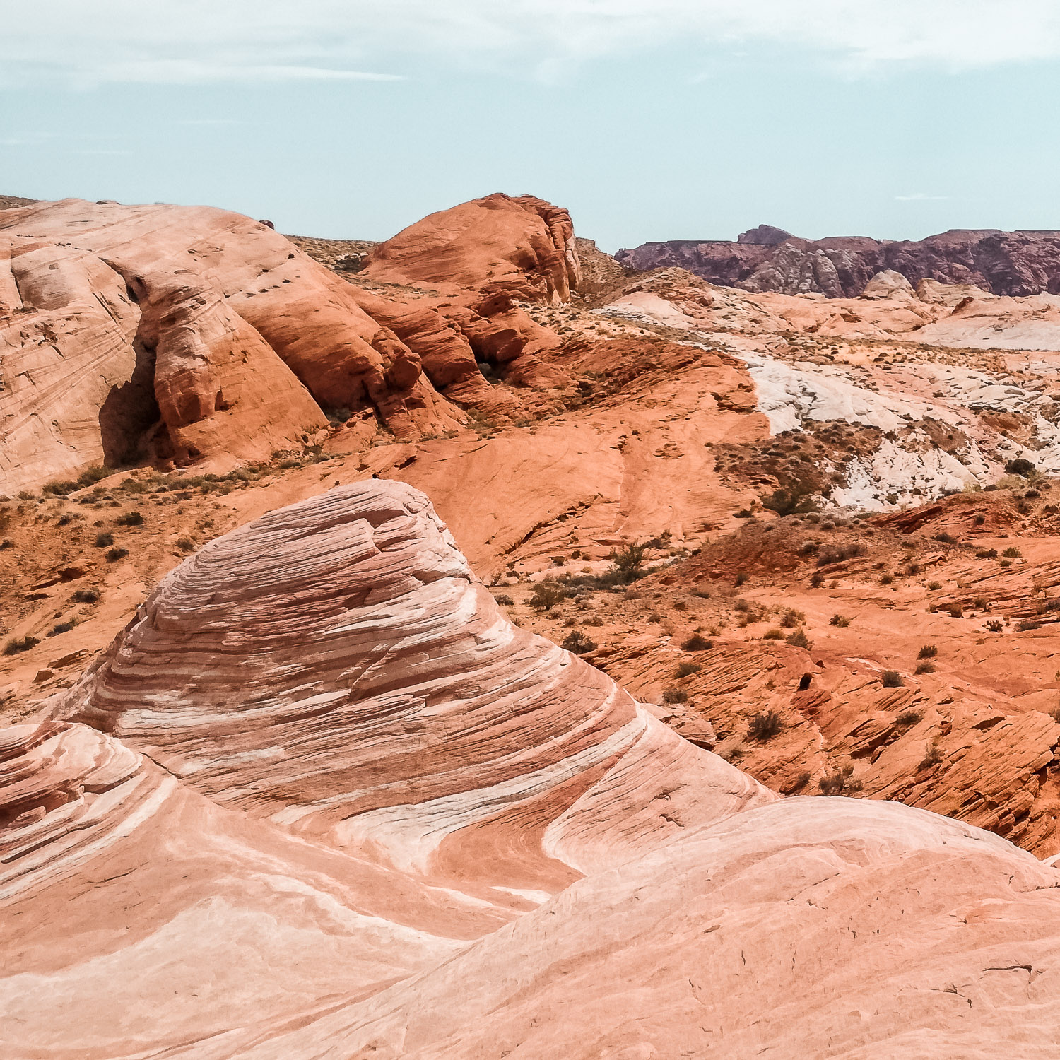 Valley of Fire Wave rot Berge
