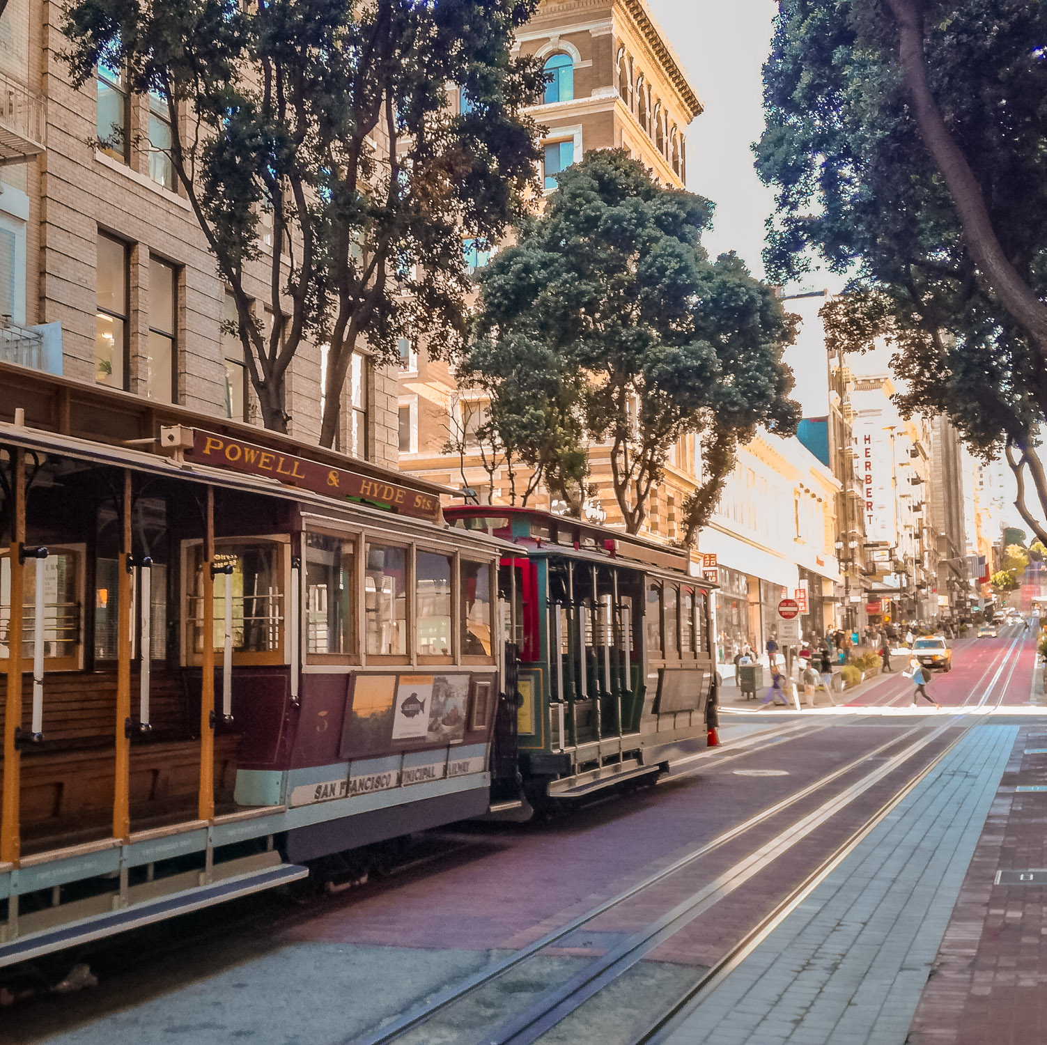 Cable Car alte Strassenbahn in San Francisco
