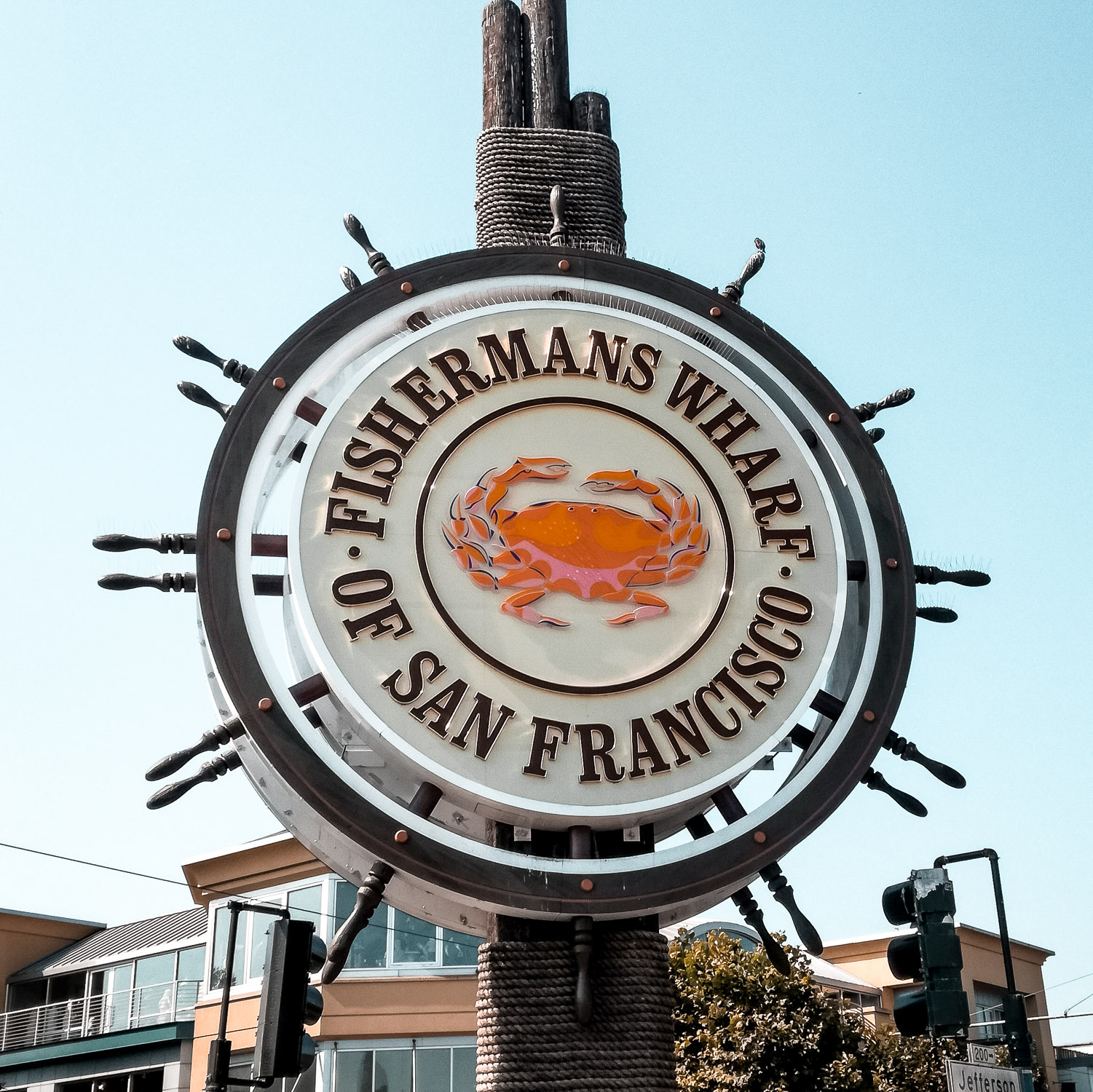 Fishermans Wharf Steuerrad San Francisco