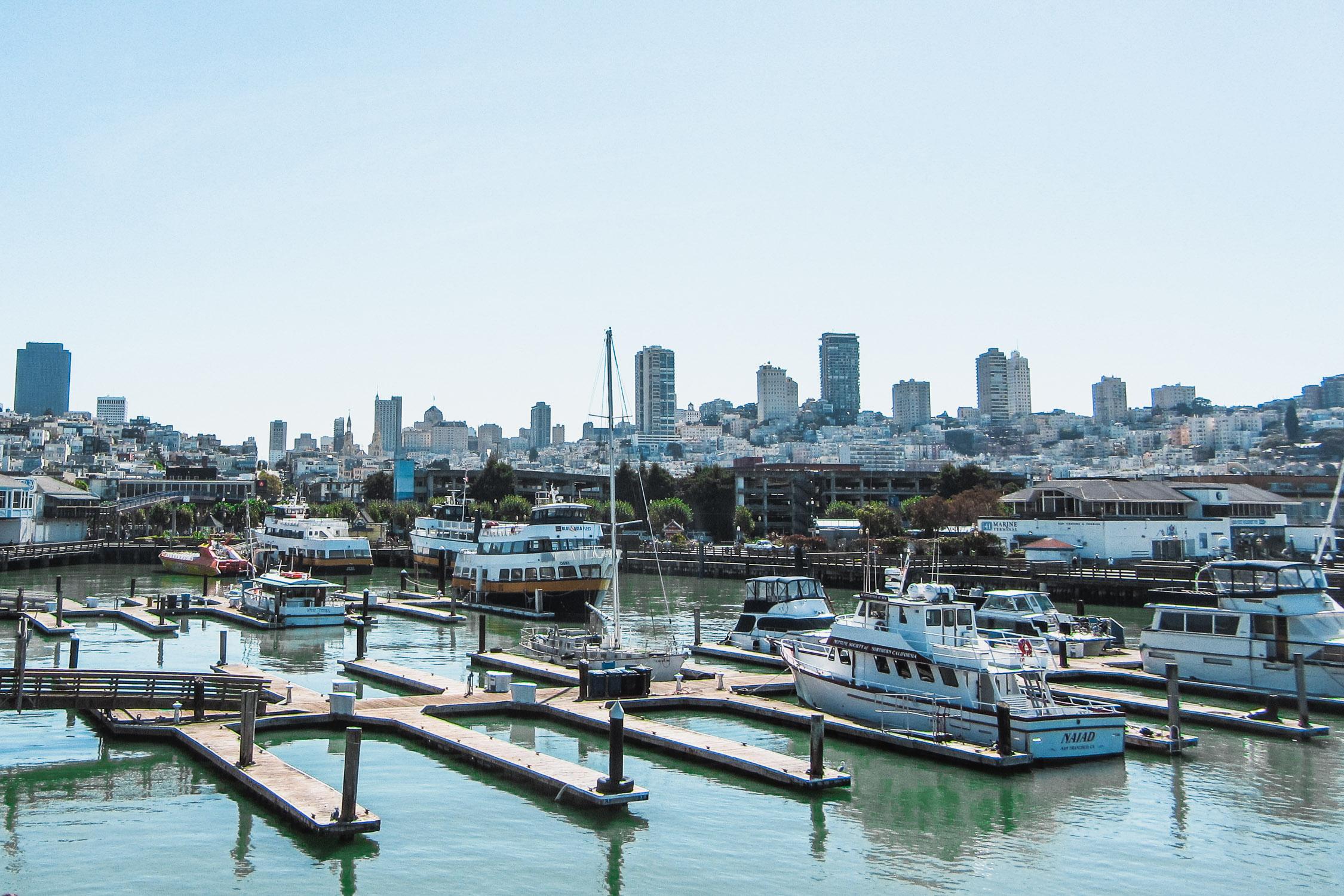 Hafen mit Booten San Francisco