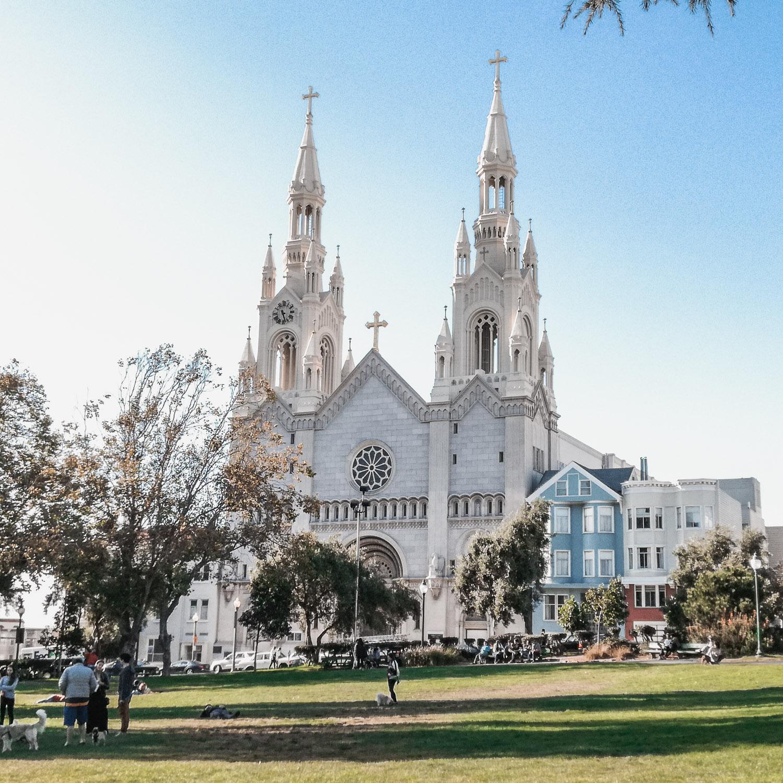 weiße Kirche in San Francisco