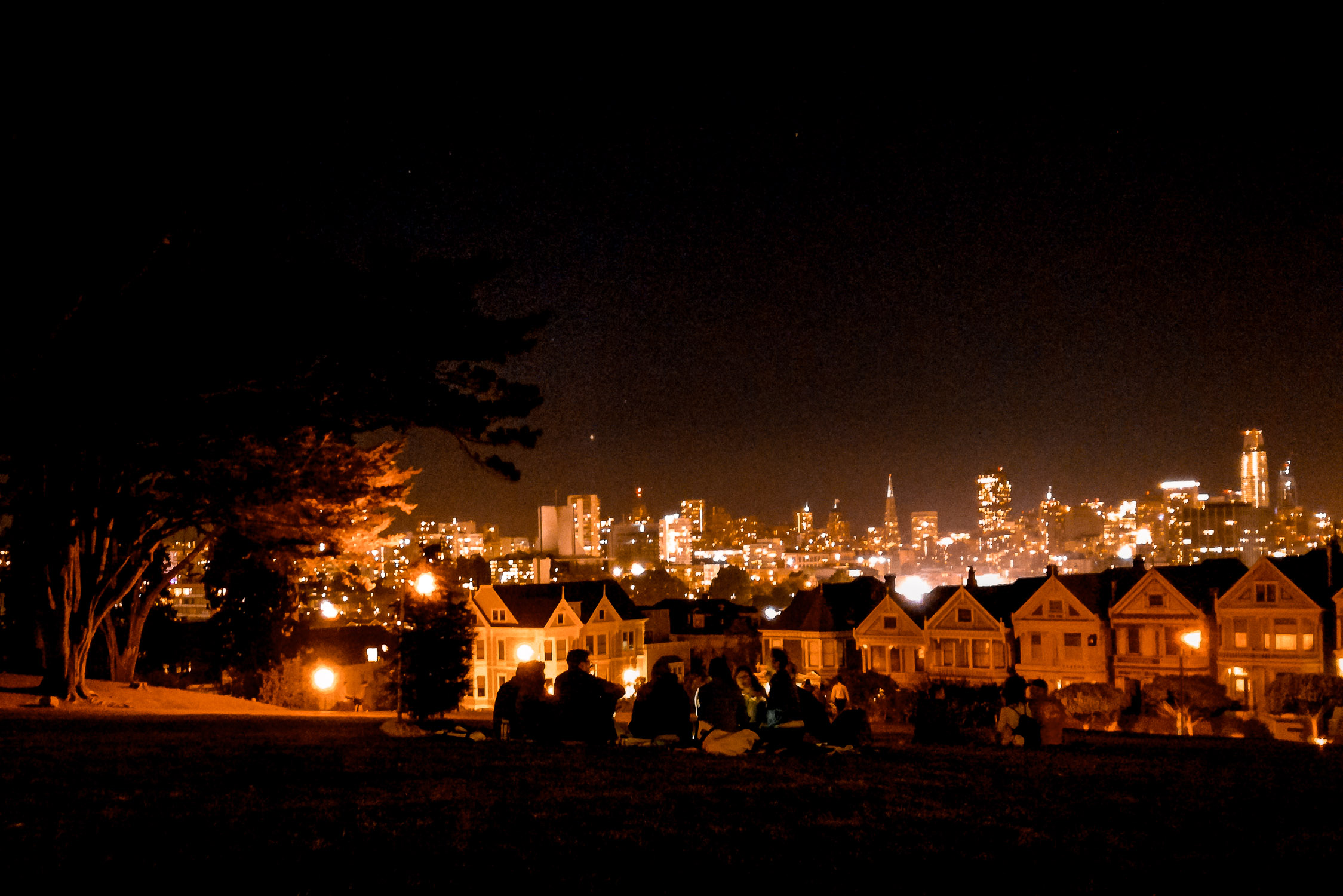 Painted Ladies bei Nacht San Francisco