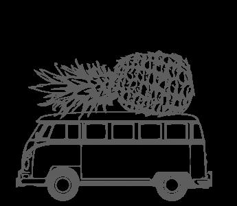 Logo Bulli mit Ananas auf dem Dach